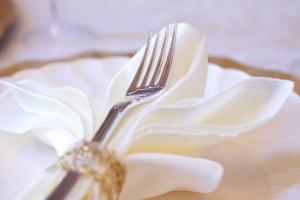 Fleur-de-lis napkin