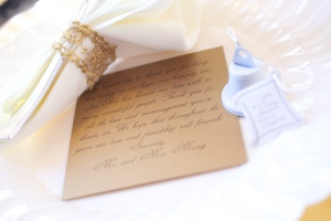 Thank you note and Wedding Bell